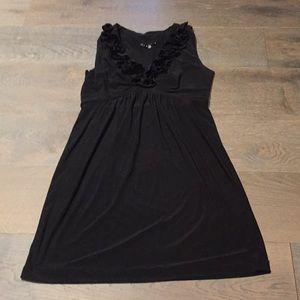 Tiana B dress petite medium black ruffle
